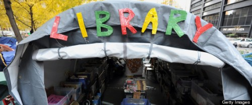 The Occupy Wall Street library in Zuccot