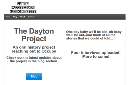Screen Capture of The Dayton Project